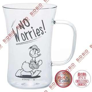 Donald 唐老鴨 耐熱 玻璃杯 水杯 玻璃水杯 馬克杯 茶杯 飲品杯 冷熱 微波爐 合用 Glass Disney Donald Duck