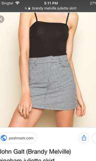 BNWT Brandy Melville Gingham Juliette Skirt