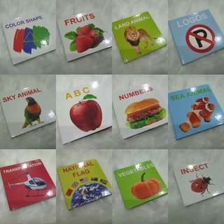 Baby Learning booklets 12 pcs