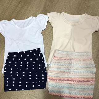 Kids 12m set top with mini skirt