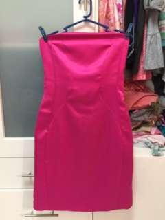 The Ramp fuschia pink tube dress