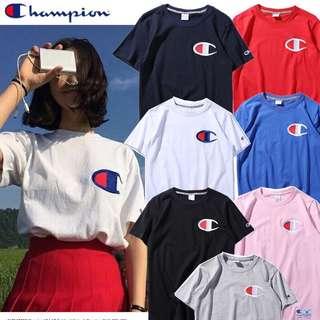 Special offer 日版Champion冠軍男女情侶款短袖夏季經典logo刺繡款運動TChampion Tee