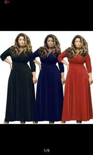 Plus Size Women Long Maxi Party Prom Gown Dress