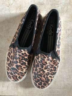 Keds Leopard Print Slip Ons