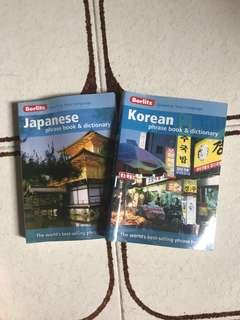 Berlitz Japanese/Korean phrase book & dictionary