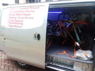 Islandwide motorcycle towing / motorcycle scrapping service / motorcycle transport service