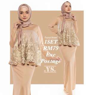 Exclusive Design Gold Lace Dolly Top (kembang) + Mermaid Skirt