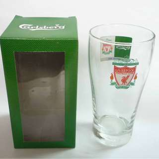 CARLSBERG Beer Clear GLASS Thailand LIVERPOOL FC Spurs Football EPL 2008
