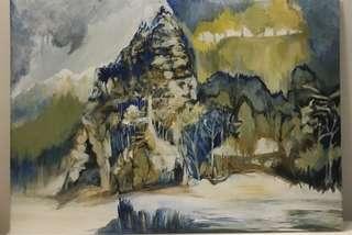 🚚 Acrylic painting - mountain adventure