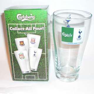 CARLSBERG Beer Clear GLASS Thailand TOTTENHAM HOTSPUR FC Spurs Football EPL 2008