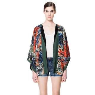 Zara Japanese Print Kimono