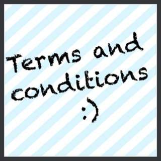 🍬TERMS AND CONDITIONS (PLS READ BEFORE DEALING ‼️)