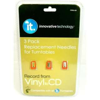 Innovative Technology 3 Pack Replacement Needles for Turntables ITRRS 300