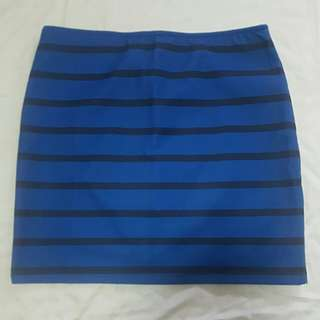 BRANDED Bershka Stripe Skirt