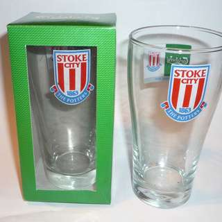 CARLSBERG Beer Clear GLASS Thailand STOKE CITY Football EPL 2008