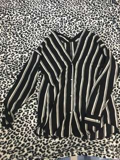 Chiffon stripes longsleeves