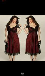 Plus Size Women Evening Party Prom Gown Formal Dress