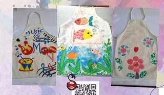 Children Paintable Canvas Apron