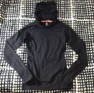H&M sports hooded top size XS