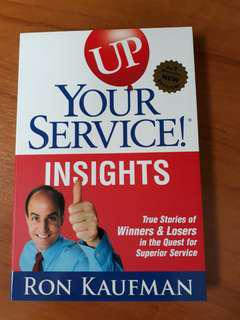 (Cheap!) NEW! Up Your Service by Ron Kaufman😊😊😊