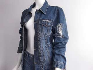 Auth Nylaus Jeans blue denim jacket