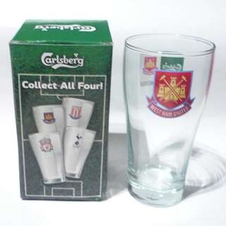CARLSBERG Beer Clear GLASS Thailand WEST HAM UNITED Football EPL 2008