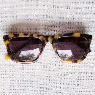 Karen Walker Deep Freeze Unisex Sunglasses in Crazy Tort