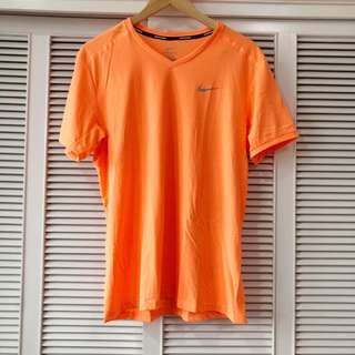 Nike Men's Orange Running Shirt