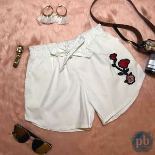 Rose Patch Shorts