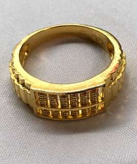 Gold Ring (916) - with abacus design ✅