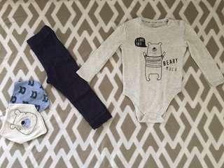 3 Pair Sleepsuits