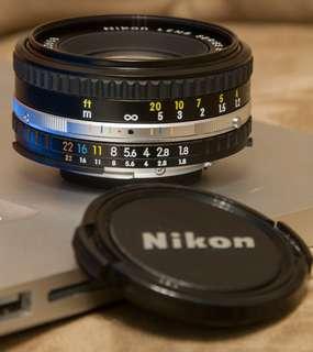 Nikon ais 50mm f1.8E pancake lens