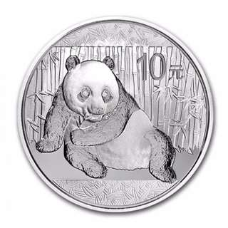 2015 CHINESE PANDA 1 OZ SILVER COIN