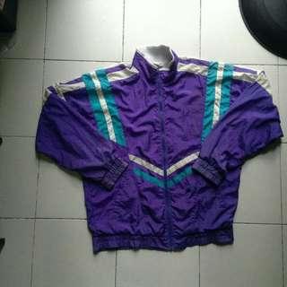 VINTAGE Violet Colorblock Track Jacket Purple Asics