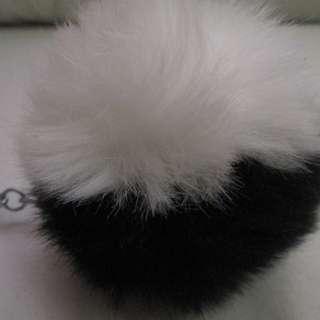 Cute Black/White Color Pom Pom's Faux Fur Handbag Accessories