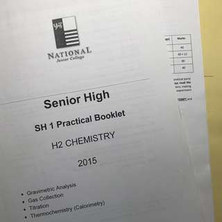 NJC Chemistry Planning Materials