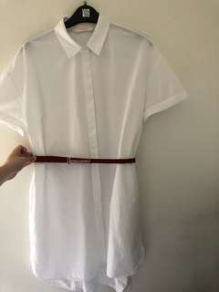 Zara boyfriend shirt dress