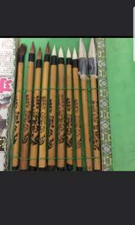 Chinese Calligraphy Brushes (10 brushes)