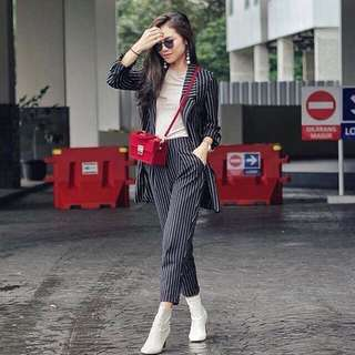 Zara stripe blazer