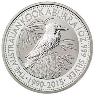 Australian Silver coin Kookaburra 2015 - 1 oz