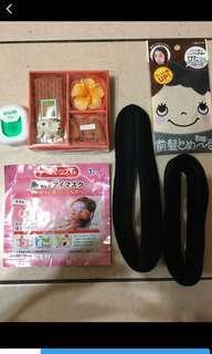 🚚 GUM牙線+日本蒸氣眼膜+泰國香氛+台隆瀏海貼+包頭*2