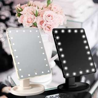 LED 22 LIGHTED MAKEUP MIRROR COSMETIC GIFT TOUCH SCREEN DIMMING AND DETACHABLE