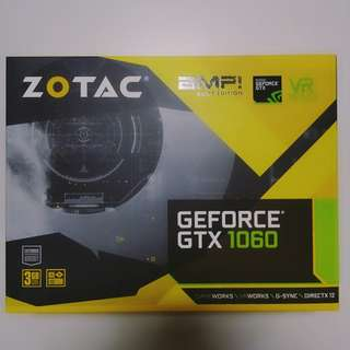 (PM!Cost Price Clear!)Zotac GTX 1060 3GB AMP Core Edition