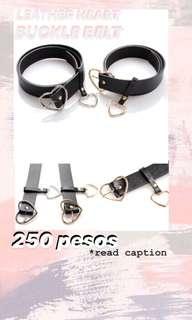 Leather Heart Buckle Belt | mag basa kang caption
