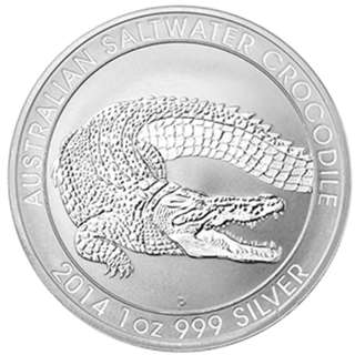 Australian Silver coin Saltwater Crocodile 2014 - 1 oz