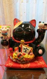 寶船滿願成就陶瓷招財貓擺飾