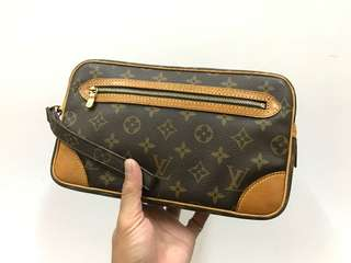 Authentic Louis Vuitton Marly Dragonne Clutch Bag
