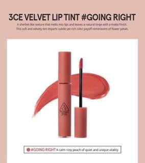 Instock 3CE Velvet lip tint in Going Right