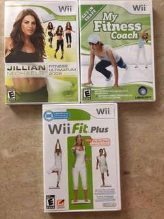 Wii fitness various titles