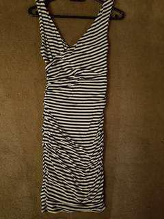 Striped V line forever new dress